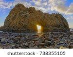 pfeiffer beach keyhole rock....   Shutterstock . vector #738355105