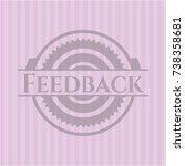 feedback vintage pink emblem   Shutterstock .eps vector #738358681