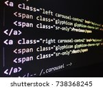 Small photo of Program code hacker, Real Python code developing screen. Programing workflow abstract algorithm concept. Lines of code visible under magnifying lens.