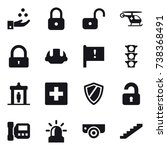 16 vector icon set   chamical... | Shutterstock .eps vector #738368491