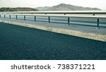 high way and guard rail with... | Shutterstock . vector #738371221