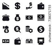 16 vector icon set   crisis ... | Shutterstock .eps vector #738371755
