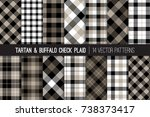 tartan and buffalo check plaid... | Shutterstock .eps vector #738373417