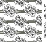 floral seamless pattern with... | Shutterstock .eps vector #738375019