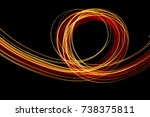light painting photography ... | Shutterstock . vector #738375811