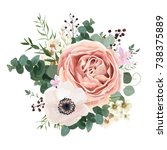 floral card vector design ... | Shutterstock .eps vector #738375889