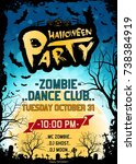grungy halloween party poster....   Shutterstock .eps vector #738384919