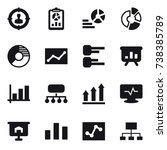 16 vector icon set   target... | Shutterstock .eps vector #738385789