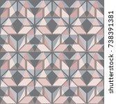 scandinavian seamless pattern.... | Shutterstock .eps vector #738391381