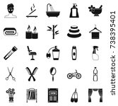 secular reception icons set.... | Shutterstock . vector #738395401