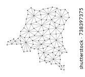 democratic republic congo map... | Shutterstock . vector #738397375