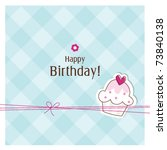 birthday card with copy space   ... | Shutterstock .eps vector #73840138