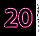 neon light effect celebrating ...   Shutterstock .eps vector #738401419