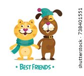 colorful friendship day... | Shutterstock .eps vector #738401551