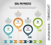 vector illustration of goal pin ... | Shutterstock .eps vector #738403147