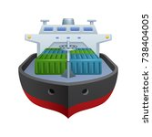 cargo ship   of the realistic...   Shutterstock .eps vector #738404005