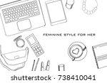 vector illustration of hand... | Shutterstock .eps vector #738410041