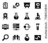 16 vector icon set   report ... | Shutterstock .eps vector #738414844