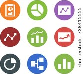 origami corner style icon set   ... | Shutterstock .eps vector #738415555
