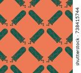 alchemy seamless pattern... | Shutterstock .eps vector #738415744
