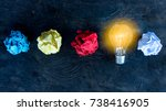 great idea concept with... | Shutterstock . vector #738416905