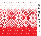 christmas background in pixel... | Shutterstock .eps vector #738417331