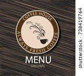 coffee menu. | Shutterstock .eps vector #738419764