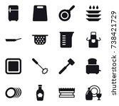 16 vector icon set   fridge ... | Shutterstock .eps vector #738421729