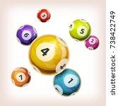 snooker balls background ... | Shutterstock .eps vector #738422749