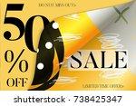 sale advertisement banner on... | Shutterstock .eps vector #738425347