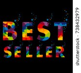 bestseller. stamp. sticker.... | Shutterstock .eps vector #738432979