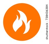abstract fire symbol on circle | Shutterstock .eps vector #738436384