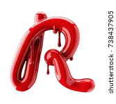3d Render Of Red Alphabet Make...