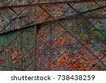 multicolor grunge background... | Shutterstock . vector #738438259