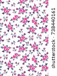 seamless floral pattern in... | Shutterstock .eps vector #738440161