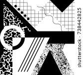 seamless geometric pattern in...   Shutterstock .eps vector #738442825