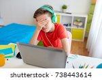 technology  gaming ... | Shutterstock . vector #738443614