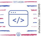 code editor icon | Shutterstock .eps vector #738443995