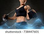 sport  fitness  training ... | Shutterstock . vector #738447601