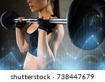 sport  fitness  bodybuilding ... | Shutterstock . vector #738447679