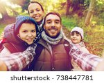 travel  tourism  hike and... | Shutterstock . vector #738447781