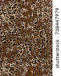 leopard  seamless pattern  | Shutterstock .eps vector #738447979