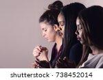 three dedicated christian... | Shutterstock . vector #738452014