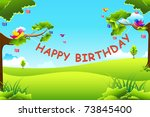 illustration of birthday text...   Shutterstock .eps vector #73845400