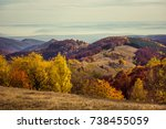 mountain autumn landscape with... | Shutterstock . vector #738455059