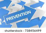 prevention   text concept with... | Shutterstock . vector #738456499