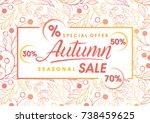 autumn special offer banner... | Shutterstock .eps vector #738459625
