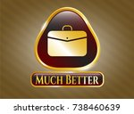 gold shiny badge with business ... | Shutterstock .eps vector #738460639
