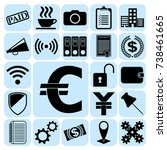 set of 22 business icons ... | Shutterstock .eps vector #738461665