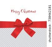 red bow ribbon christmas... | Shutterstock .eps vector #738462181
